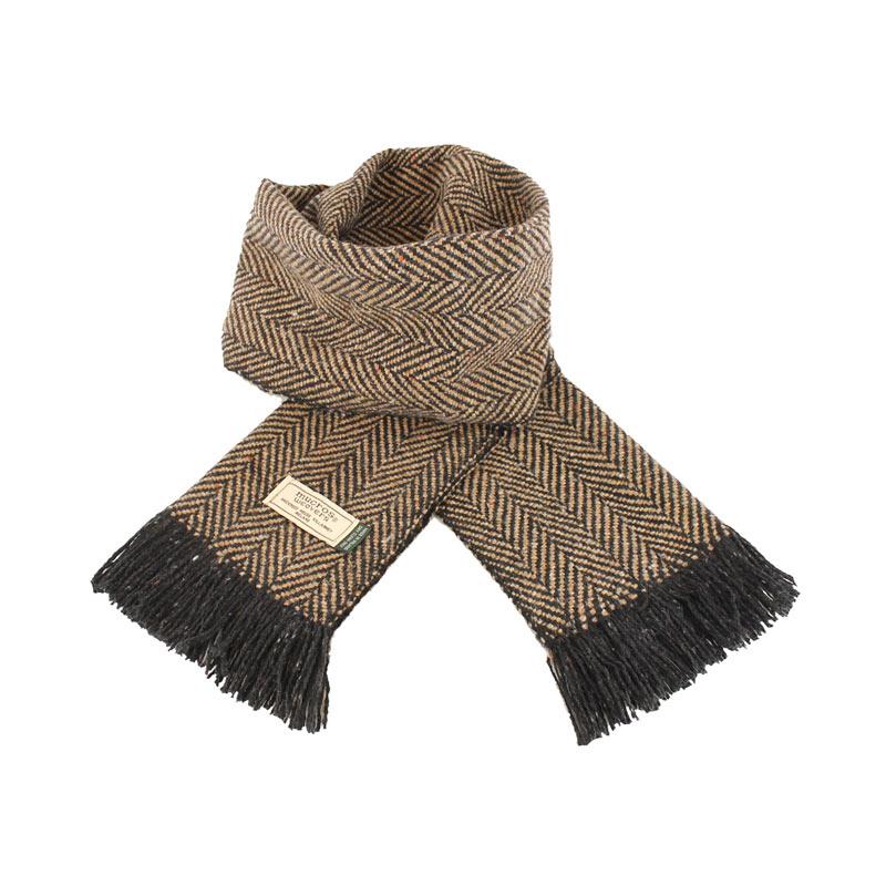 Mucros Weavers donegal tweed scarf DT46
