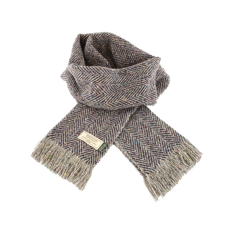 Mucros Weavers donegal tweed scarf DT61