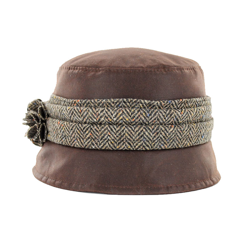 Mucros Kate Wax Hat brown