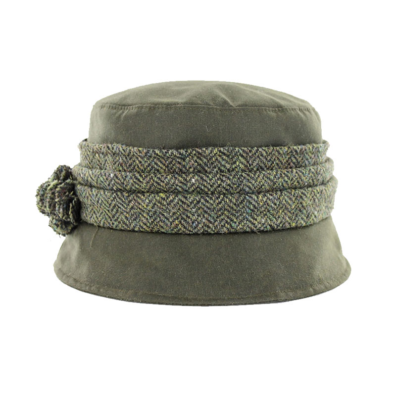 Mucros Kate Wax Hat olive green