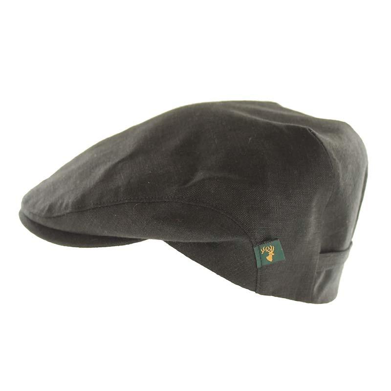 Mucros Weavers black linen cap