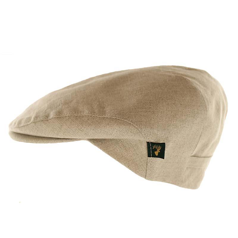 Mucros Weavers natural linen cap